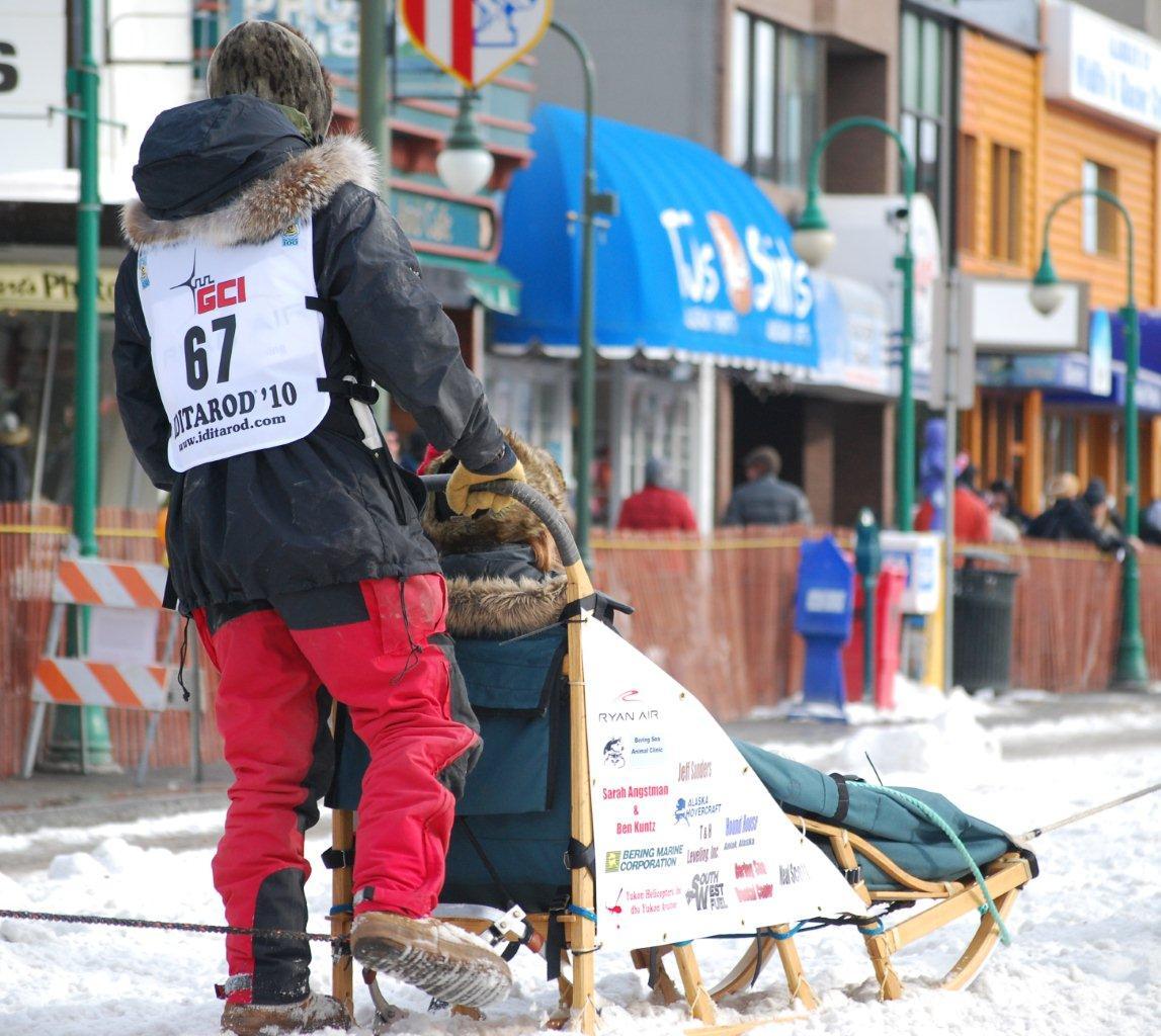 2010 Iditarod - Peter Kaiser on sled