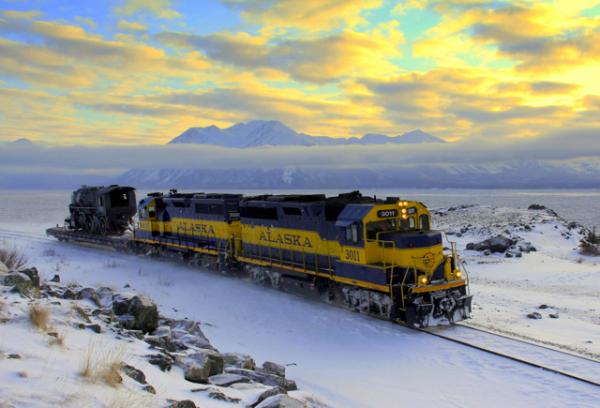 #557 rides the rails