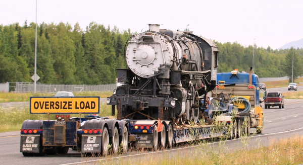 AWE hauls Steam Engine to Wasilla resized 600