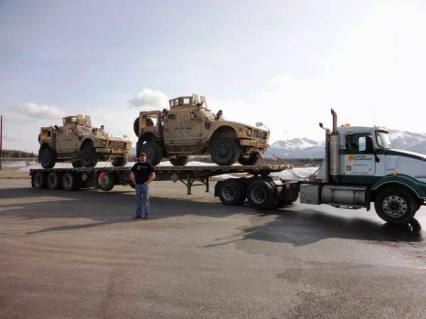 Bomb disposal unit military move