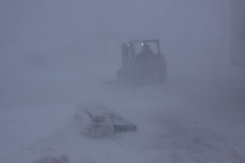 White-out in Prudhoe Bay