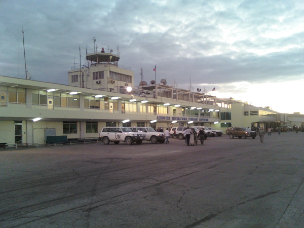 Disaster relief logistics - Haiti air terminal
