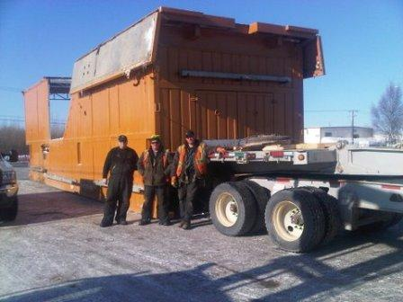 Artic drill rig move from Edmonton