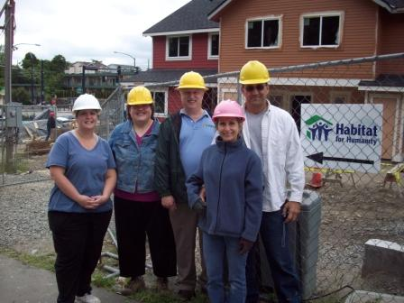 Lynden employees volunteer for Habitat for Humanity