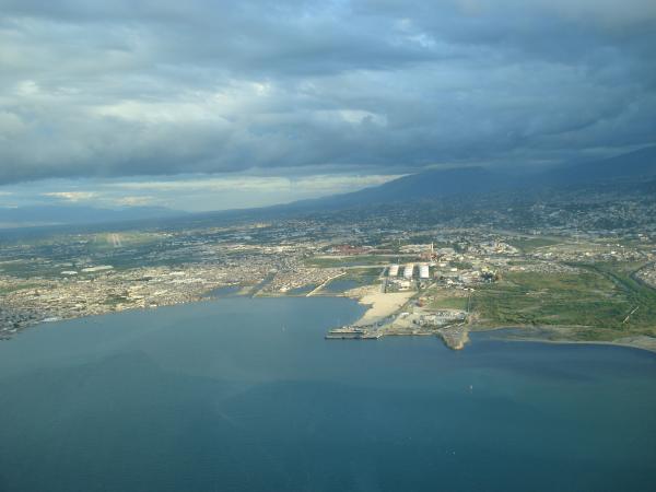 Overhead shot of Haiti