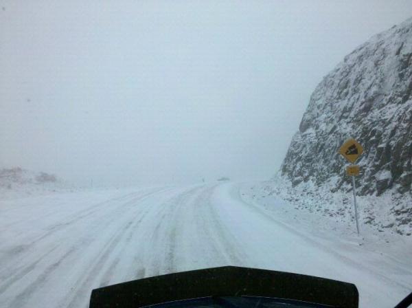 Haul Road Winter 2012