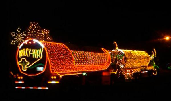 Lighted Milky Way truck