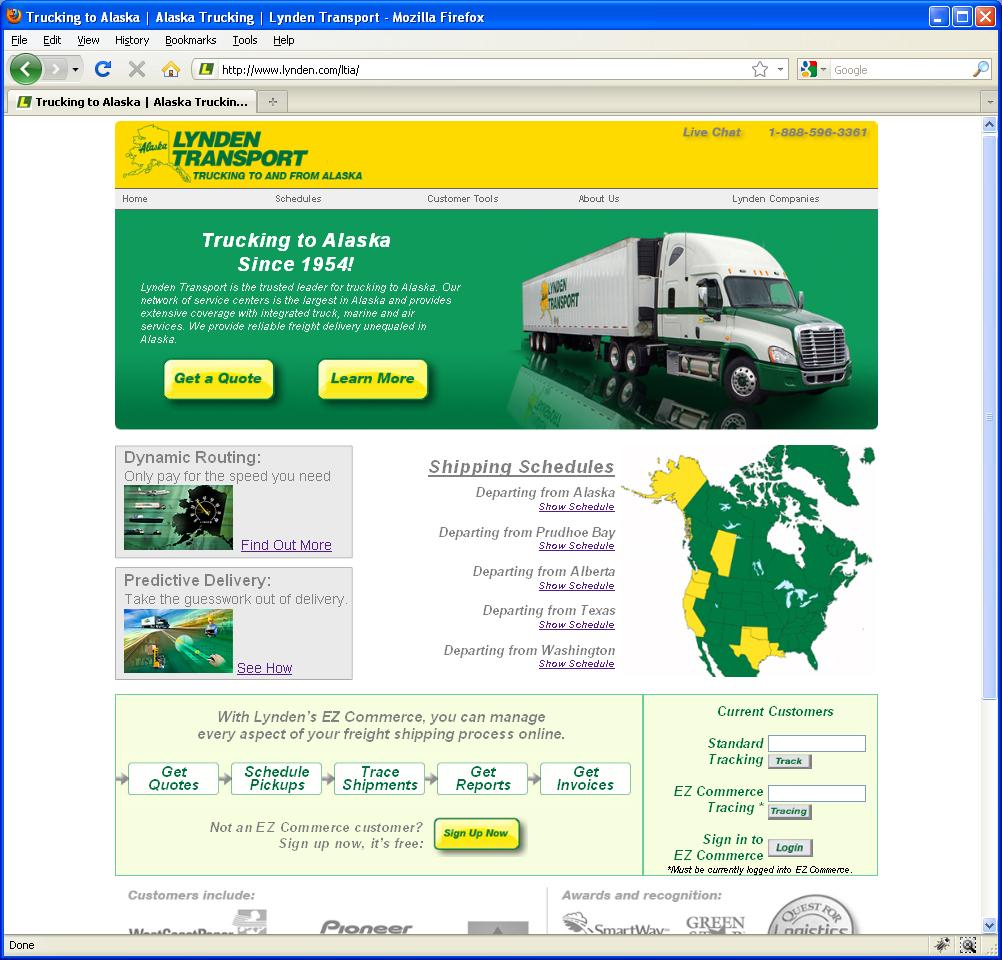 New Lynden Transport website
