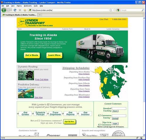New Lynden Transport website