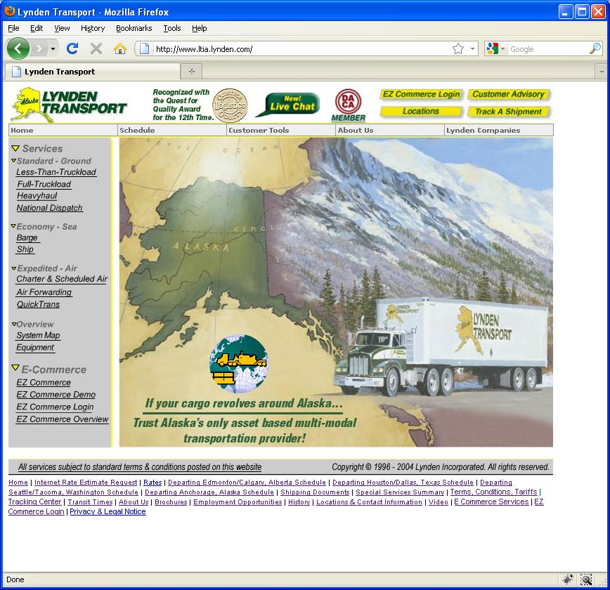 Old Lynden Transport website