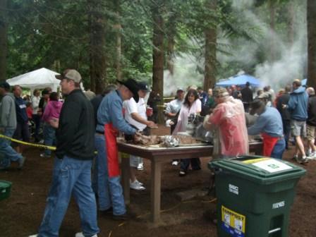 BBQ at the picnic