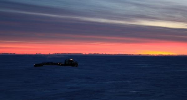 Prudhoe Bay Sunrise and Lynden Truck