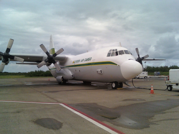 Relief flights to Haiti - Hercules cargo plane