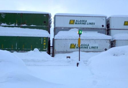 snowy train