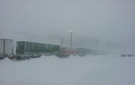 snowy trains