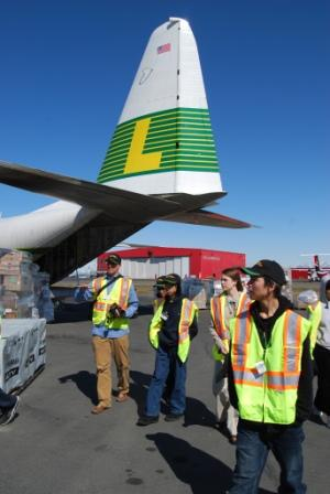 Chevak students visit Lynden Air Cargo