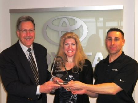 Toyota Logistics partner award