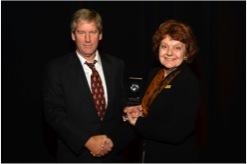 Brad Williamson accepting the EPA award
