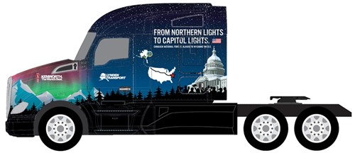Kenworth truck - U.S. Capitol Christmas Tree