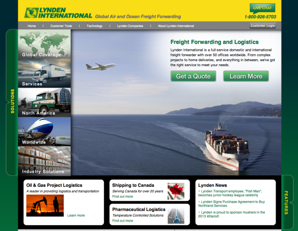 Newly designed Lynden International website