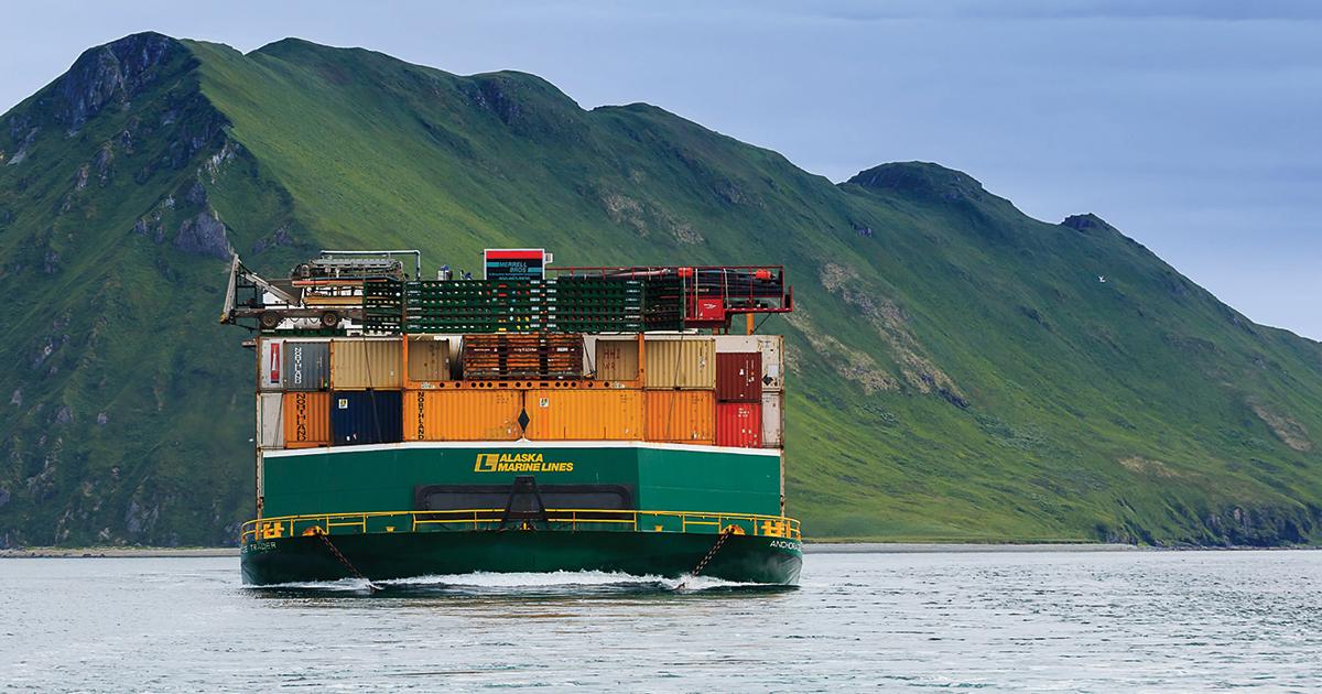 Alaska Marine Lines rail barge