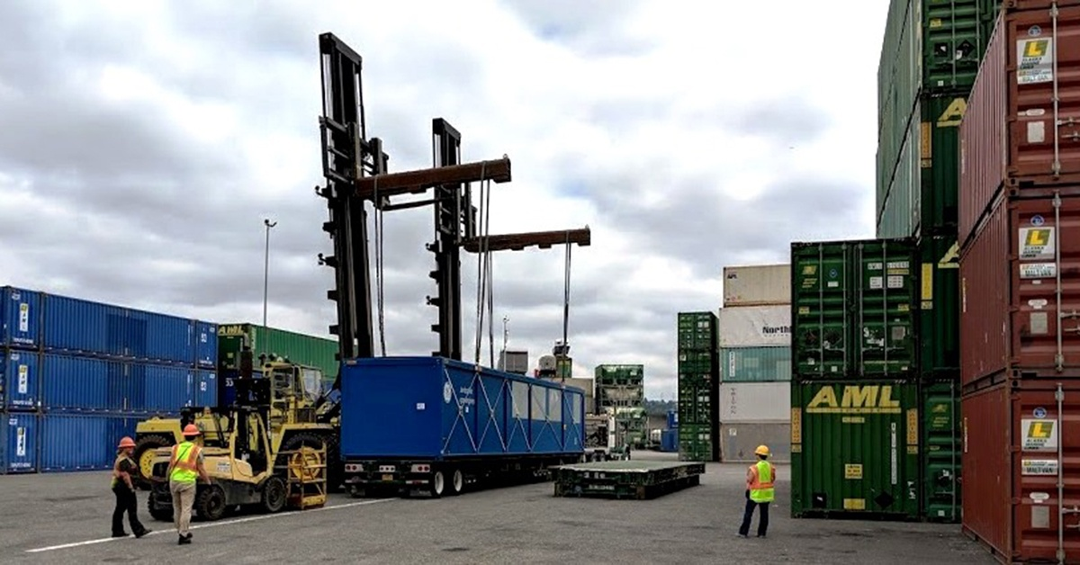 Container at Alaska Marine Lines service center