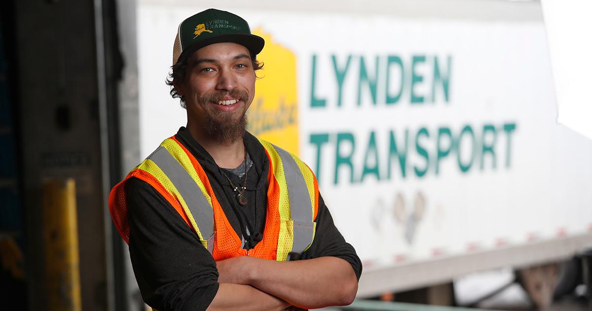 Lynden employee Derikk Longerbone