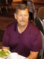 Doug Longerbone at national truck driving competition - at award dinner