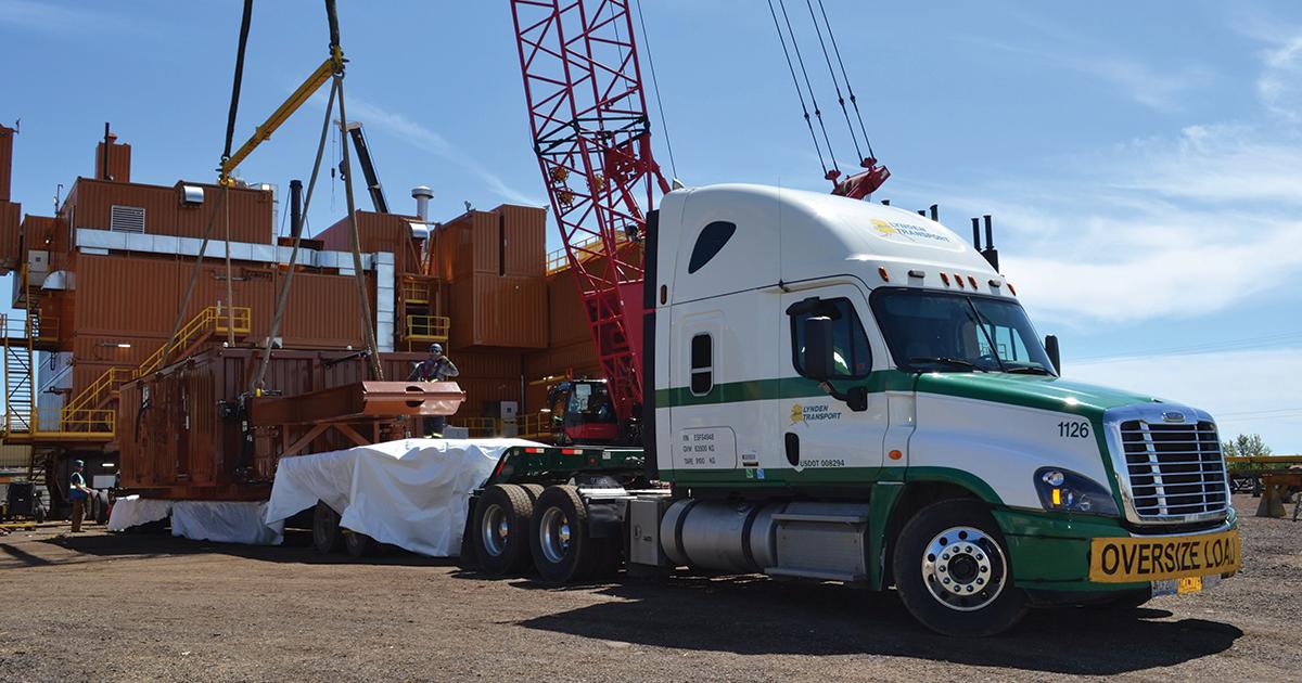 Lynden hauling ERD rig