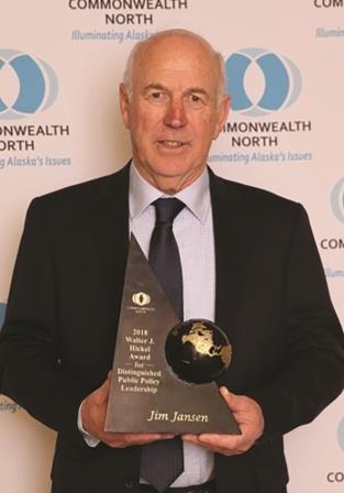 Jim Jansen receives Walter Hickel Award 5-11-18