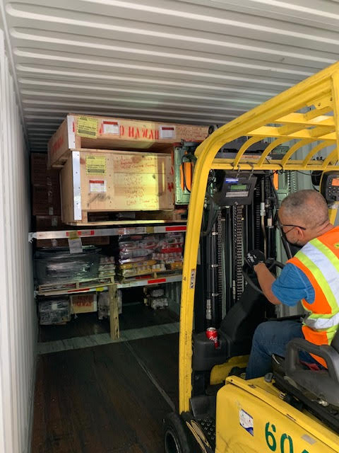 K-beam container loading with forklift 2
