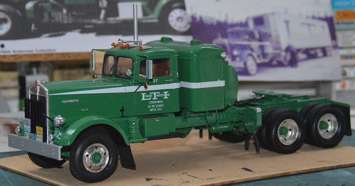 Lynden 1954 Kenworth tractor No. 27 model