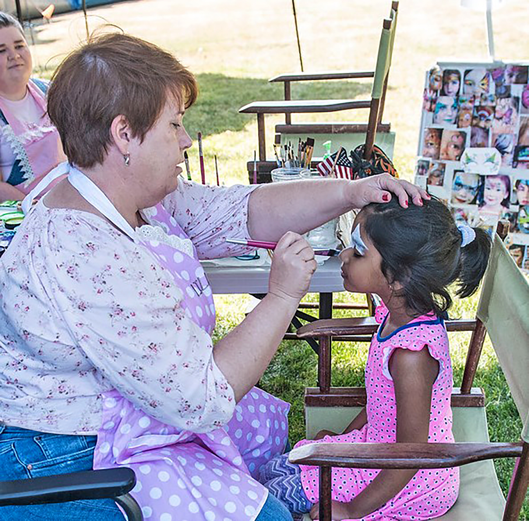Lynden picnic face painting