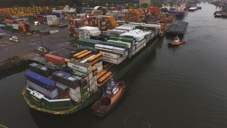 School Buses on barge in Seattle.jpg