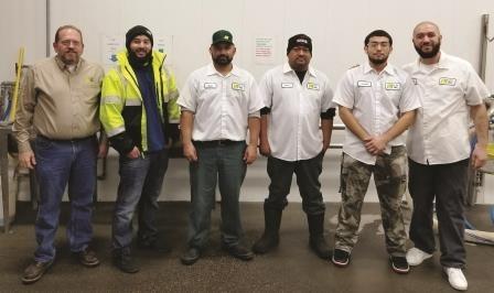 Members of the LTI, Inc. Wash Bay Crew in Sunnyside, WA