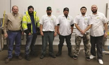 Members of the LTI, Inc. Wash Bay Crew in Sunnyside, WA
