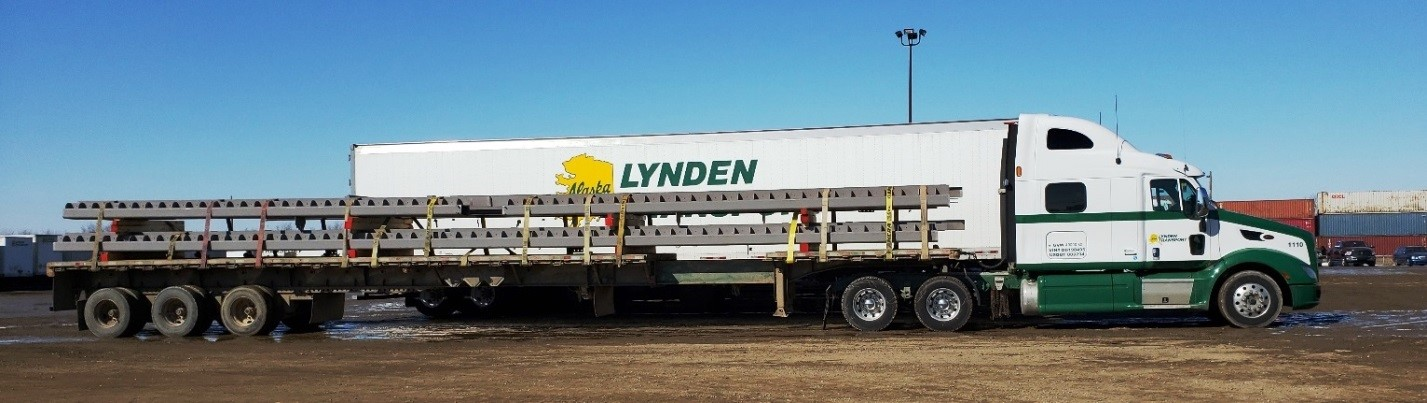 Lynden Transport flatbed
