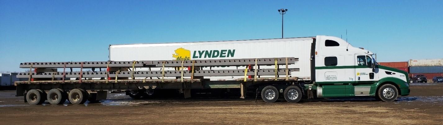 Lynden Transport flatbed