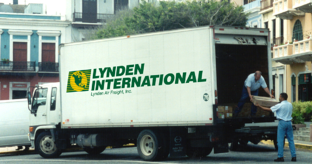 Lynden International Delivery Truck